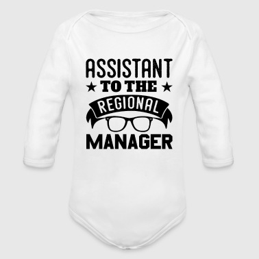 Region Assistant To The Regional Manager Fun - Organic Long Sleeve Baby Bodysuit