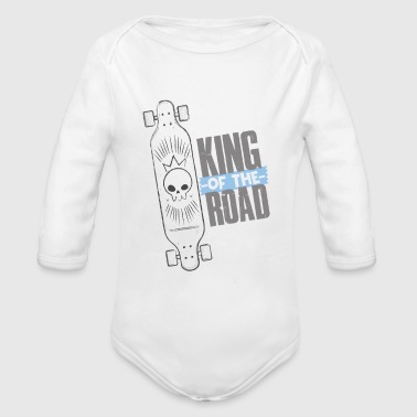 Sports longboard - King of The Road - Organic Long Sleeve Baby Bodysuit