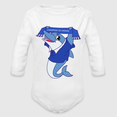 World Champion France world champion - Organic Long Sleeve Baby Bodysuit