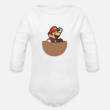 Super Super Mario - Organic Long-Sleeved Baby Bodysuit