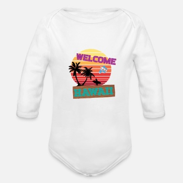 Hawaiian Hawaii - Organic Long Sleeve Baby Bodysuit