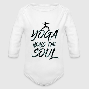 Yoga Heals - Organic Long Sleeve Baby Bodysuit