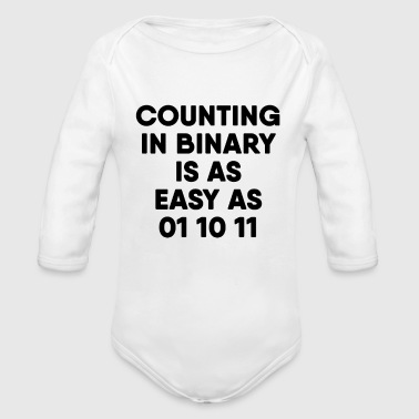 Computer Science Binary - Organic Long Sleeve Baby Bodysuit