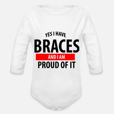 Braces Braces - Organic Long-Sleeved Baby Bodysuit