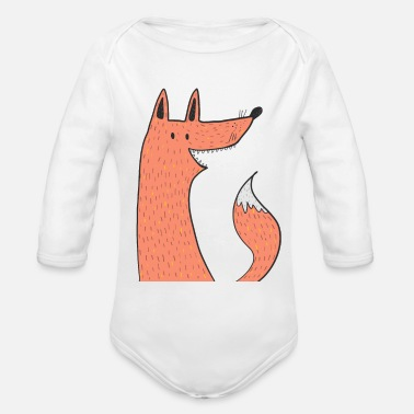 Foxes fox Kids T-Shirt - Organic Long-Sleeved Baby Bodysuit