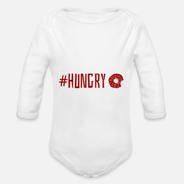 Hungry Hungry - Organic Long Sleeve Baby Bodysuit