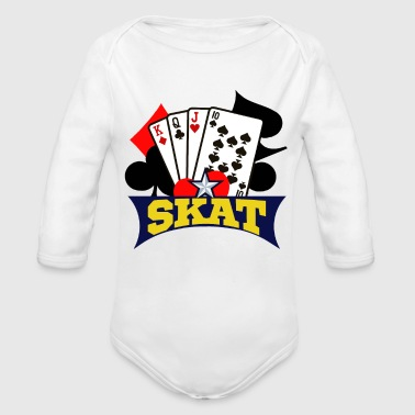 Skat Skat Card Game - Organic Long Sleeve Baby Bodysuit
