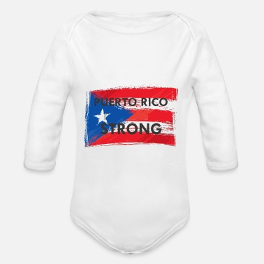 35eda7455d78 Strong Puerto Rico Flag T-Shirt - Organic Long-Sleeved Baby Bodysuit