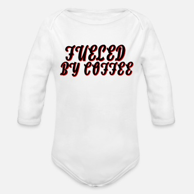 Fuel fueled by coffee - Organic Long Sleeve Baby Bodysuit