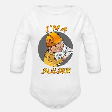 Builders Builder - Organic Long-Sleeved Baby Bodysuit