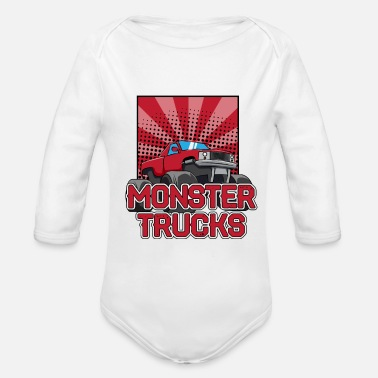 Monster Truck Monster truck Trucks - Organic Long Sleeve Baby Bodysuit