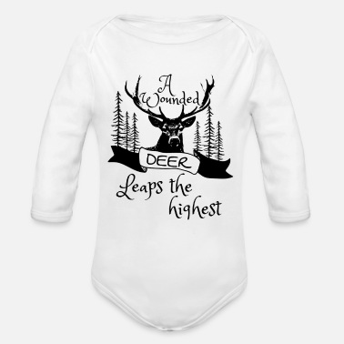 Wound a wounded deer - Organic Long-Sleeved Baby Bodysuit