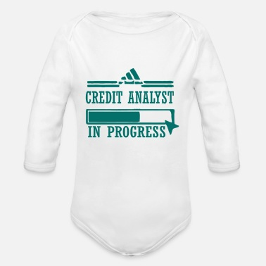 Credit A badass credit analyst in progress - Organic Long-Sleeved Baby Bodysuit