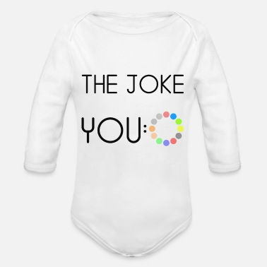 Joke The joke - Organic Long-Sleeved Baby Bodysuit