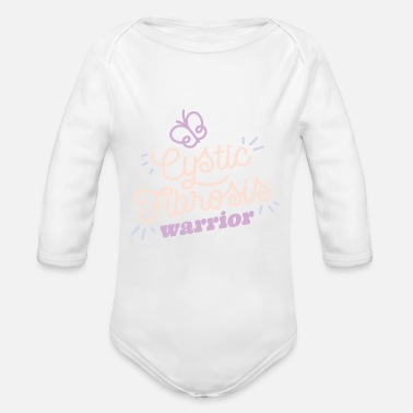 Cf Cystic Fibrosis Warrior graphic CF Awareness - Organic Long-Sleeved Baby Bodysuit