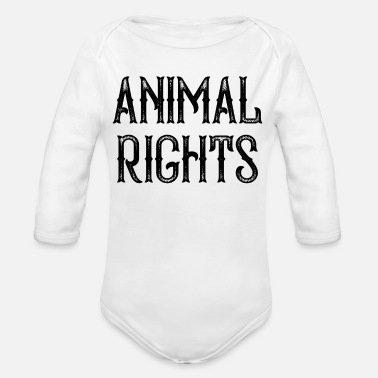 Animal Rights Animal Rights - Organic Long-Sleeved Baby Bodysuit