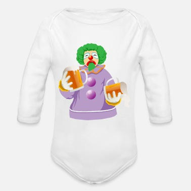 Solemnize Sb Drunk Clown - Organic Long-Sleeved Baby Bodysuit