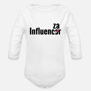 Influenza Influencer becomes influenza with medicine pill - Organic Long-Sleeved Baby Bodysuit