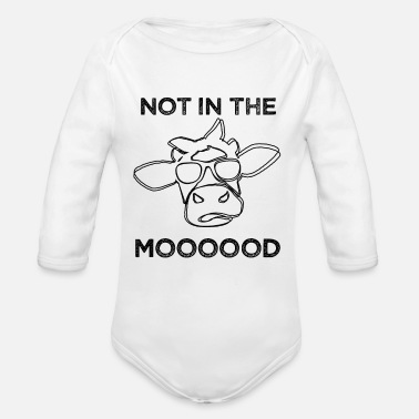 Mood Not in the Mood - Organic Long-Sleeved Baby Bodysuit