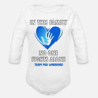 PKU awareness - Organic Long-Sleeved Baby Bodysuit