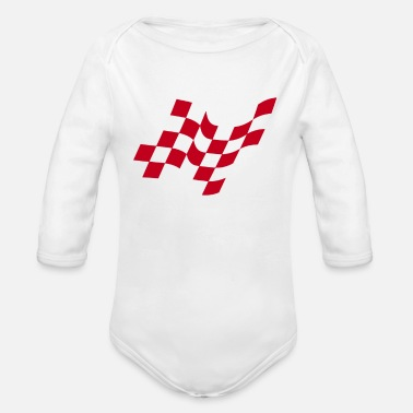 Checker checkered - Organic Long-Sleeved Baby Bodysuit