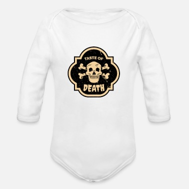 Taste of death - Organic Long-Sleeved Baby Bodysuit
