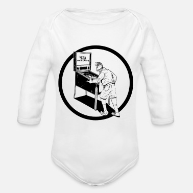 Leather Pants Custom Made Seek And Destroy Skull Horror Design - Organic Long-Sleeved Baby Bodysuit