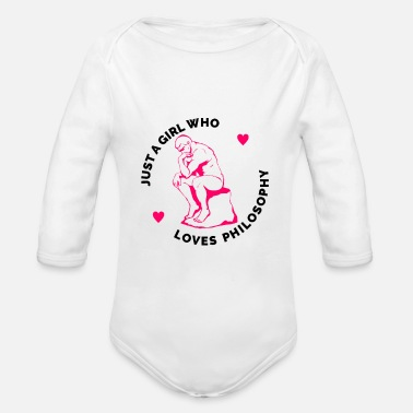 Mindful In Nature Just a Girl who Loves Philosophy - Organic Long-Sleeved Baby Bodysuit