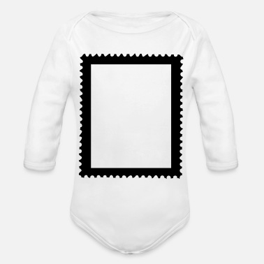 Postage postage stamp - Organic Long-Sleeved Baby Bodysuit