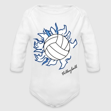 Volley ball - Organic Long Sleeve Baby Bodysuit