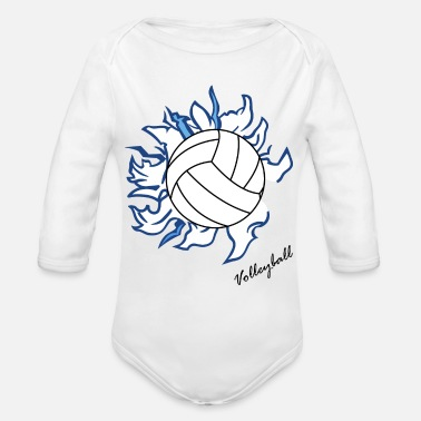 Volley Volley ball - Organic Long Sleeve Baby Bodysuit