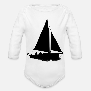 Sailboat sailboat - Organic Long Sleeve Baby Bodysuit