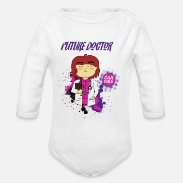 Future Future girl doctor - Organic Long Sleeve Baby Bodysuit