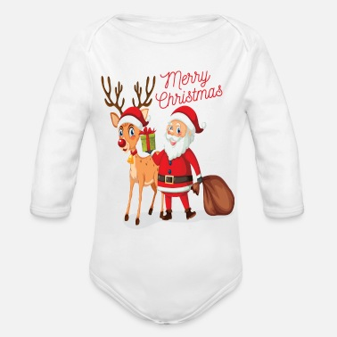Merry Christmas Merry Christmas - Organic Long-Sleeved Baby Bodysuit