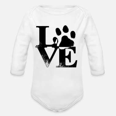 Animal Animal Love - Organic Long Sleeve Baby Bodysuit