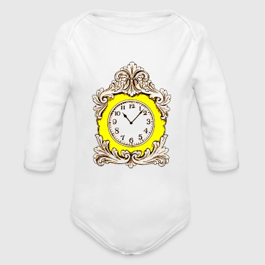 Clock - Organic Long Sleeve Baby Bodysuit