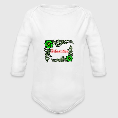 Relax Relaxation - Organic Long Sleeve Baby Bodysuit