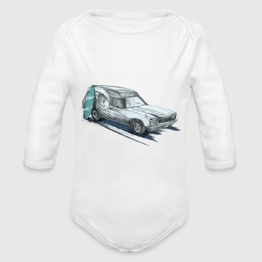 OLD-SCHOOL CARS - Organic Long Sleeve Baby Bodysuit