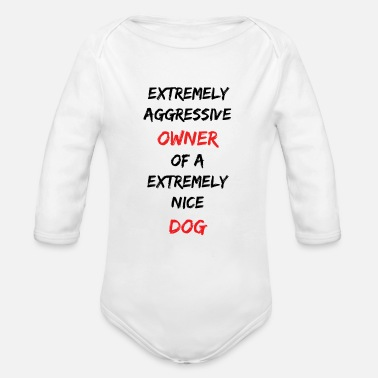 Aggressive Aggressive owner - Organic Long-Sleeved Baby Bodysuit