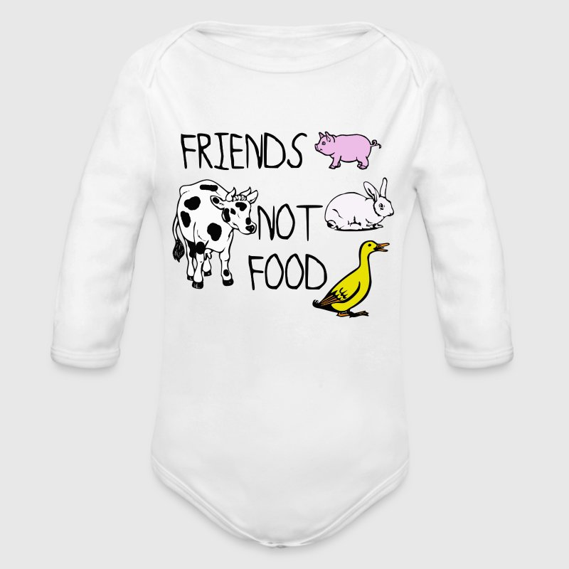 FRIENDS NOT FOOD - Organic Long Sleeve Baby Bodysuit