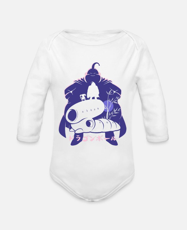 Ball Baby One Pieces - anime - Organic Long-Sleeved Baby Bodysuit white
