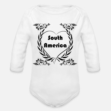 South America I love South America - Organic Long Sleeve Baby Bodysuit