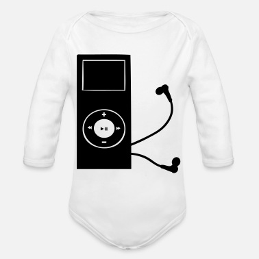 Mp3 mp3 player - Organic Long-Sleeved Baby Bodysuit