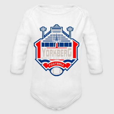 High School Senior YORKBERG SENIOR HIGH SCHOOL FOOTBALL - Organic Long Sleeve Baby Bodysuit