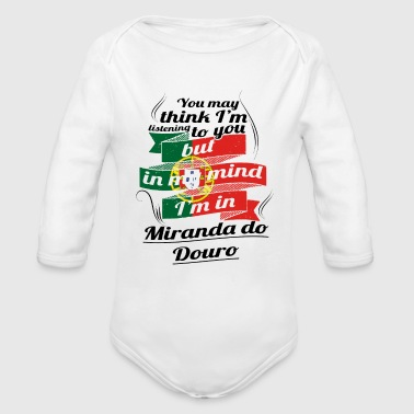 URLAUB HOME ROOTS TRAVEL I M IN Portugal Miranda d - Organic Long Sleeve Baby Bodysuit