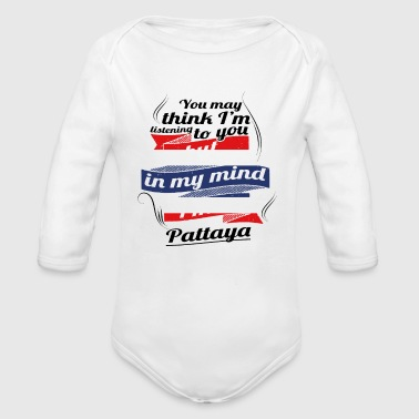 URLAUB HOME ROOTS TRAVEL I M IN Thailand Pattaya - Organic Long Sleeve Baby Bodysuit