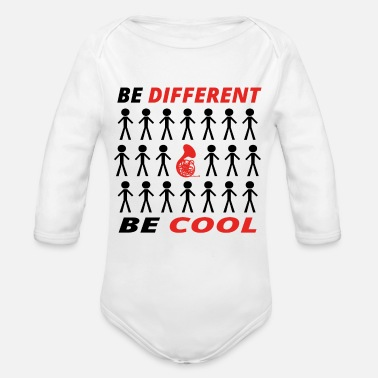 Tuba BE DIFFERENT anders king cool TUBA TROMPETE gesche - Organic Long Sleeve Baby Bodysuit