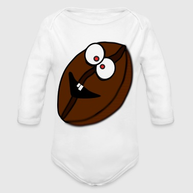 Coffee Bean coffee bean - Organic Long Sleeve Baby Bodysuit