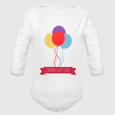 Congratulations - Organic Long Sleeve Baby Bodysuit