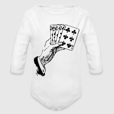 Playing Cards - Organic Long Sleeve Baby Bodysuit